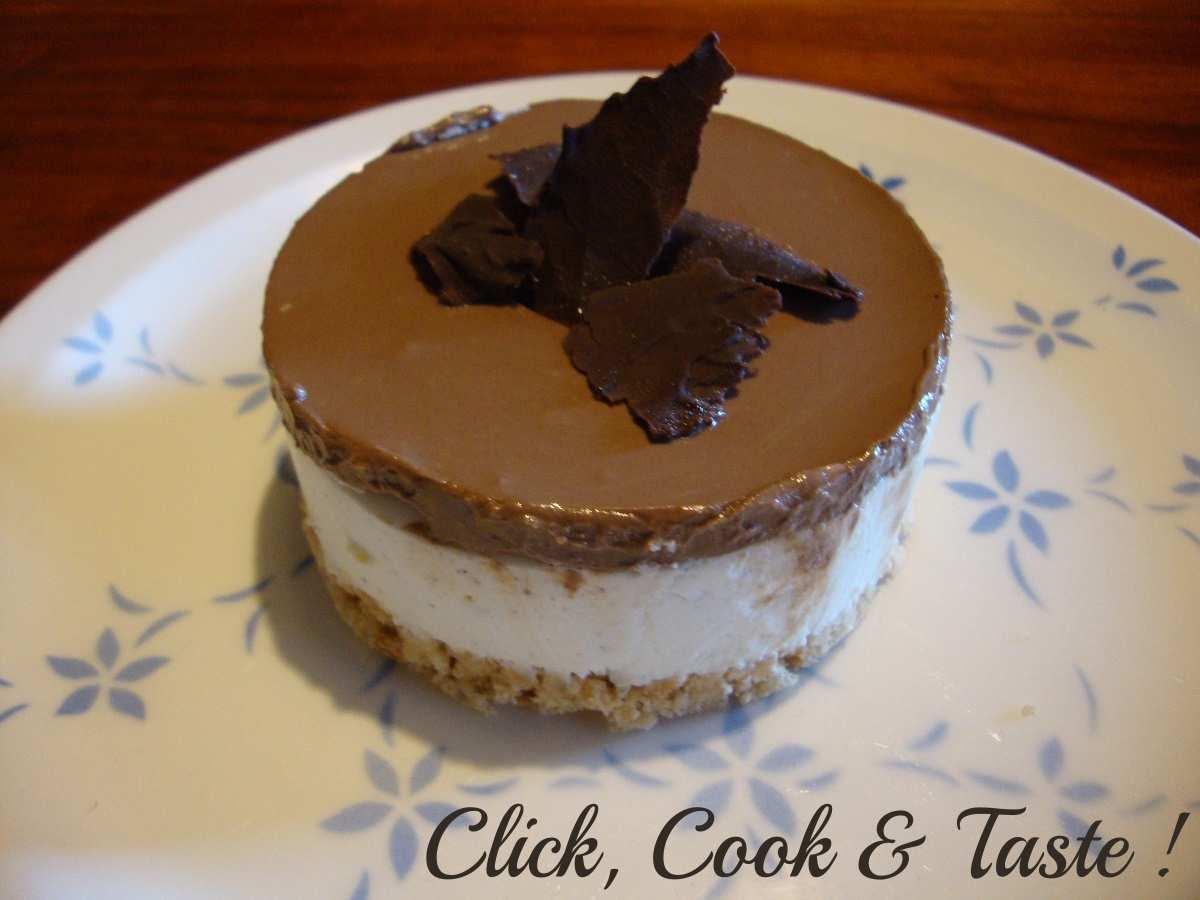 Bavarois chocolat - vanille - 1 (avec fond biscuité)