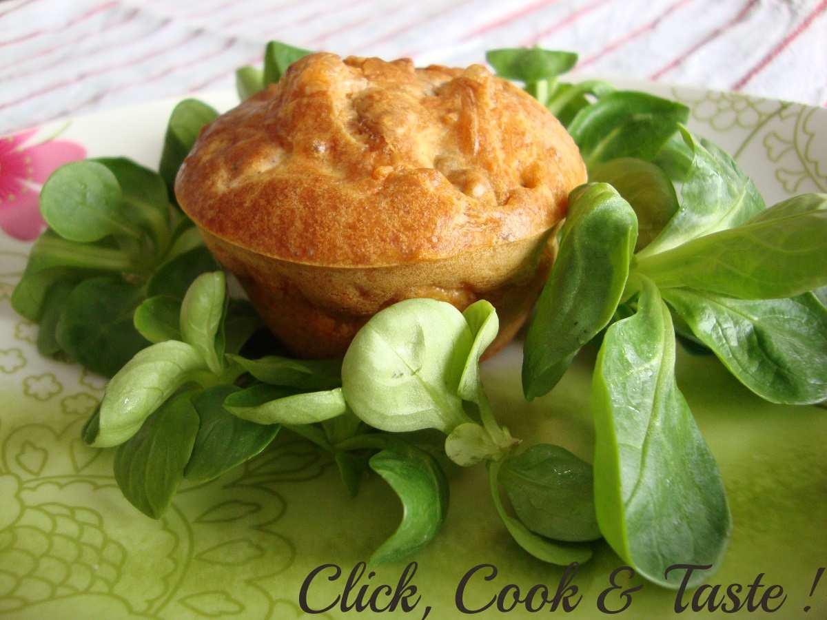 Cake au bleu et aux noix (version muffin)