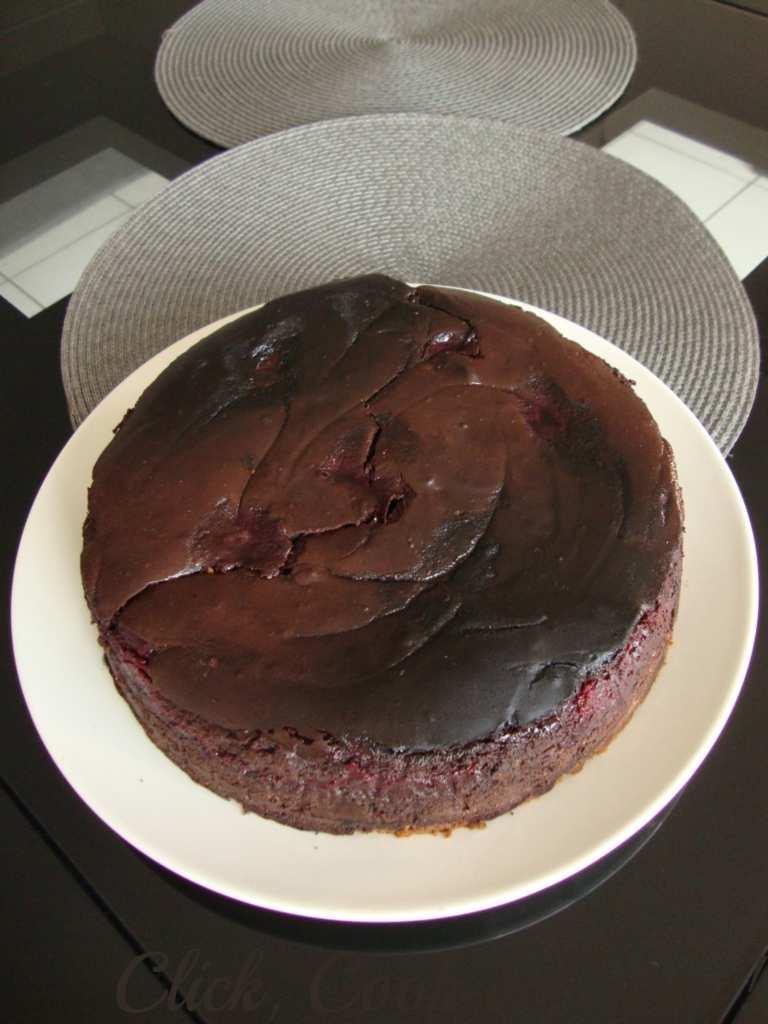 Cheesecake chocolat noir - framboise