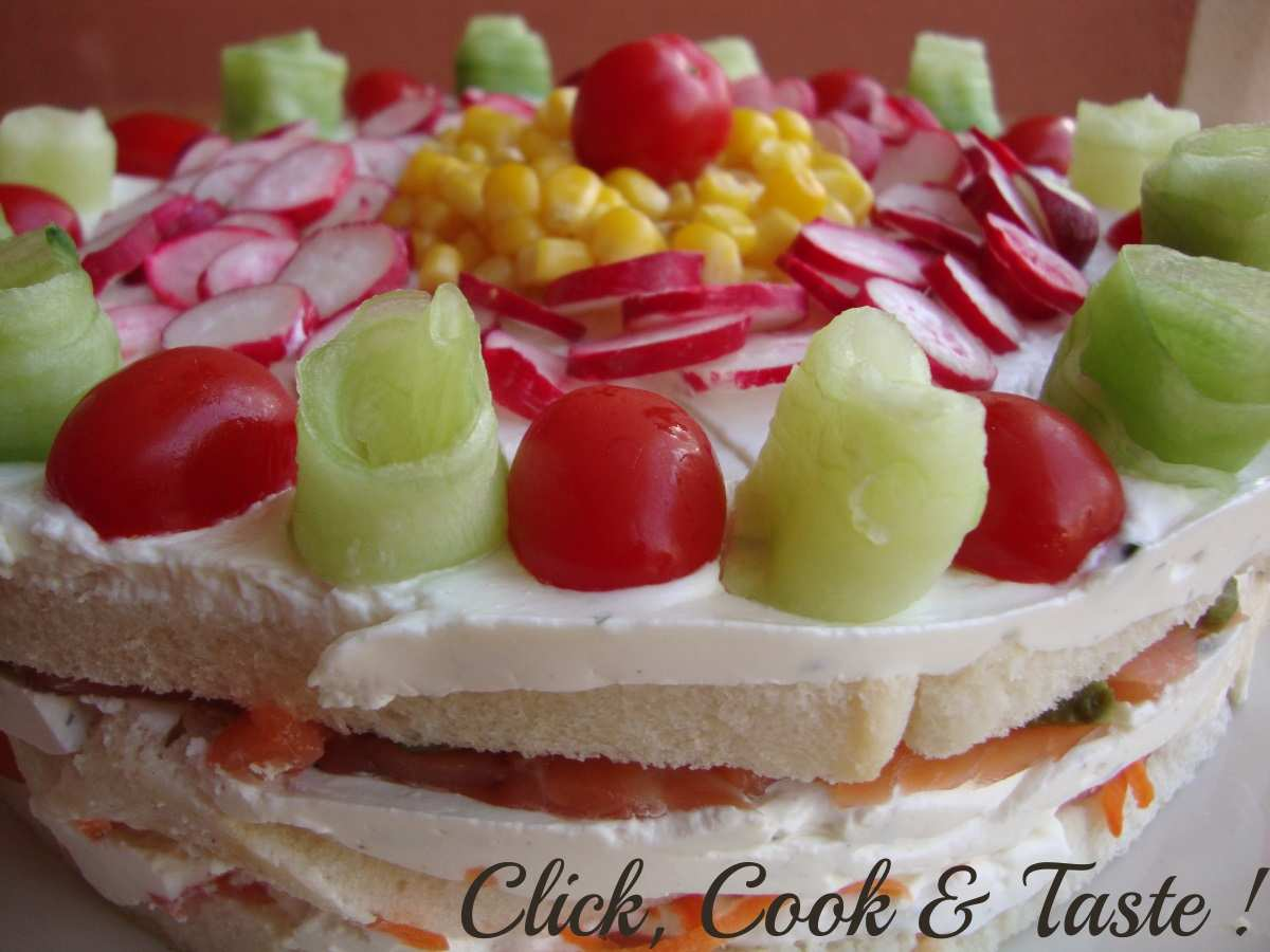 Gâteau salé aux légumes printaniers - 2ème RDV cuisinautes