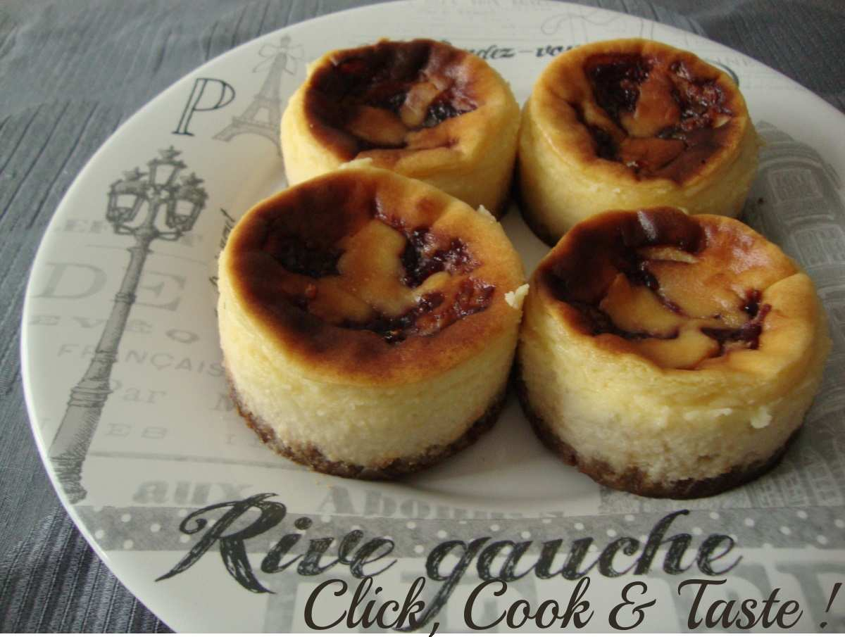 Minis cheesecakes chocolat blanc - framboise façon Starbucks