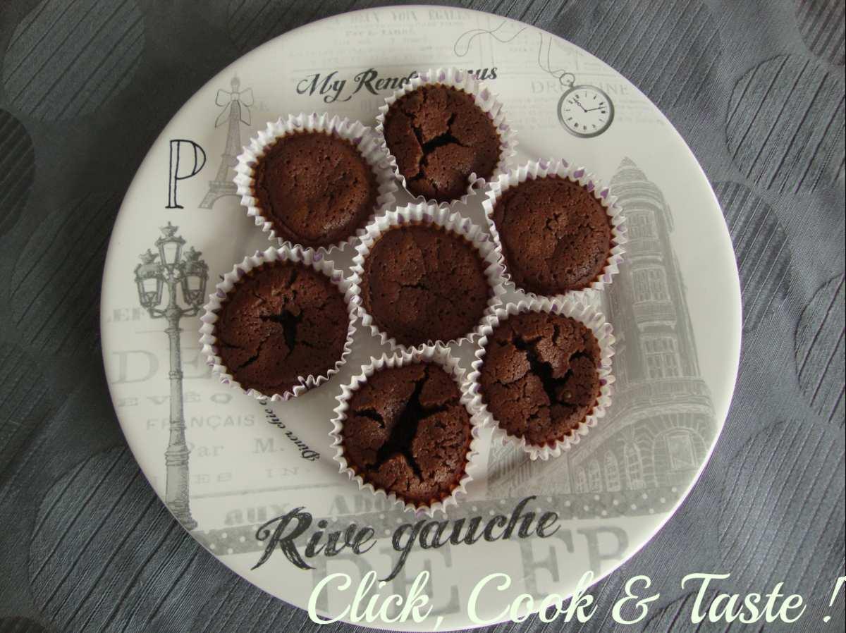 Muffins moelleux et fondants au chocolat