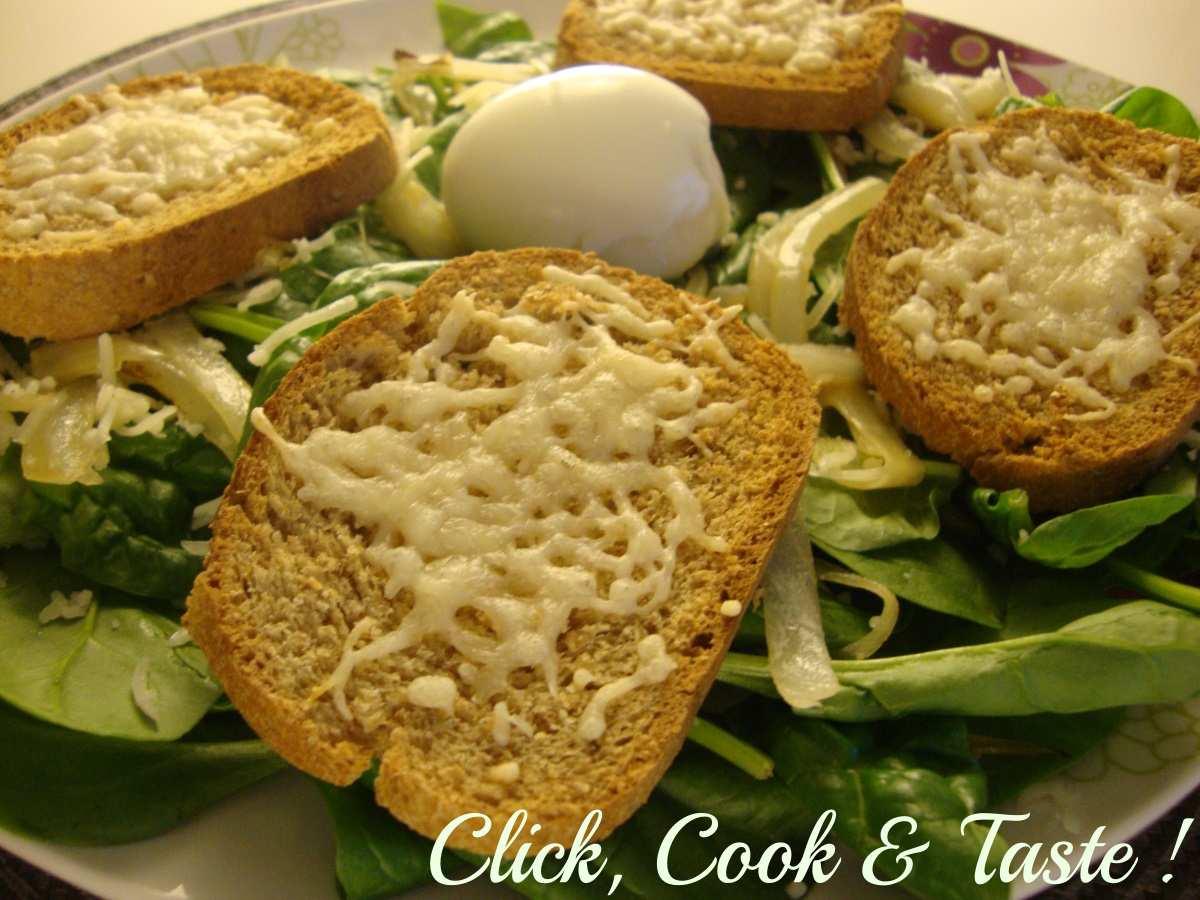 Salade gourmande de pousse d'épinards
