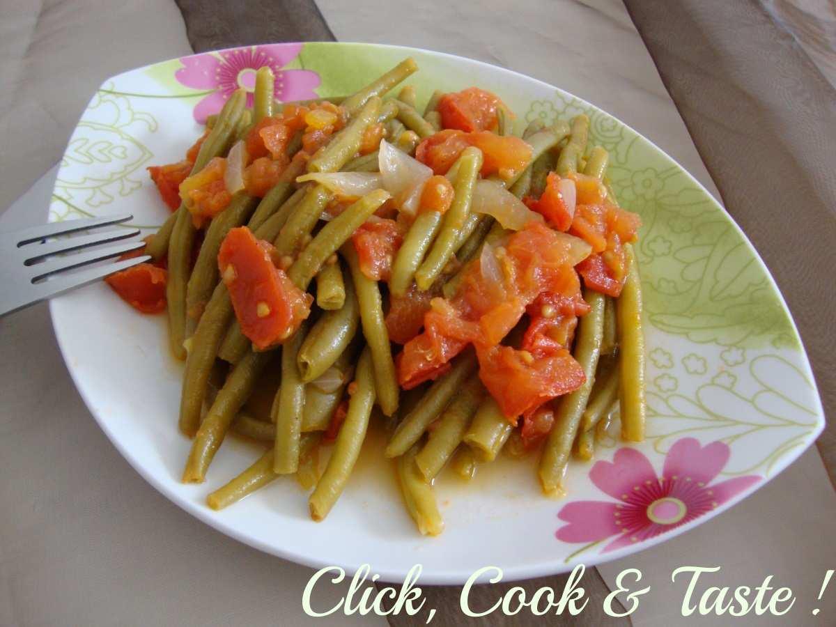 Haricots verts à la tomate
