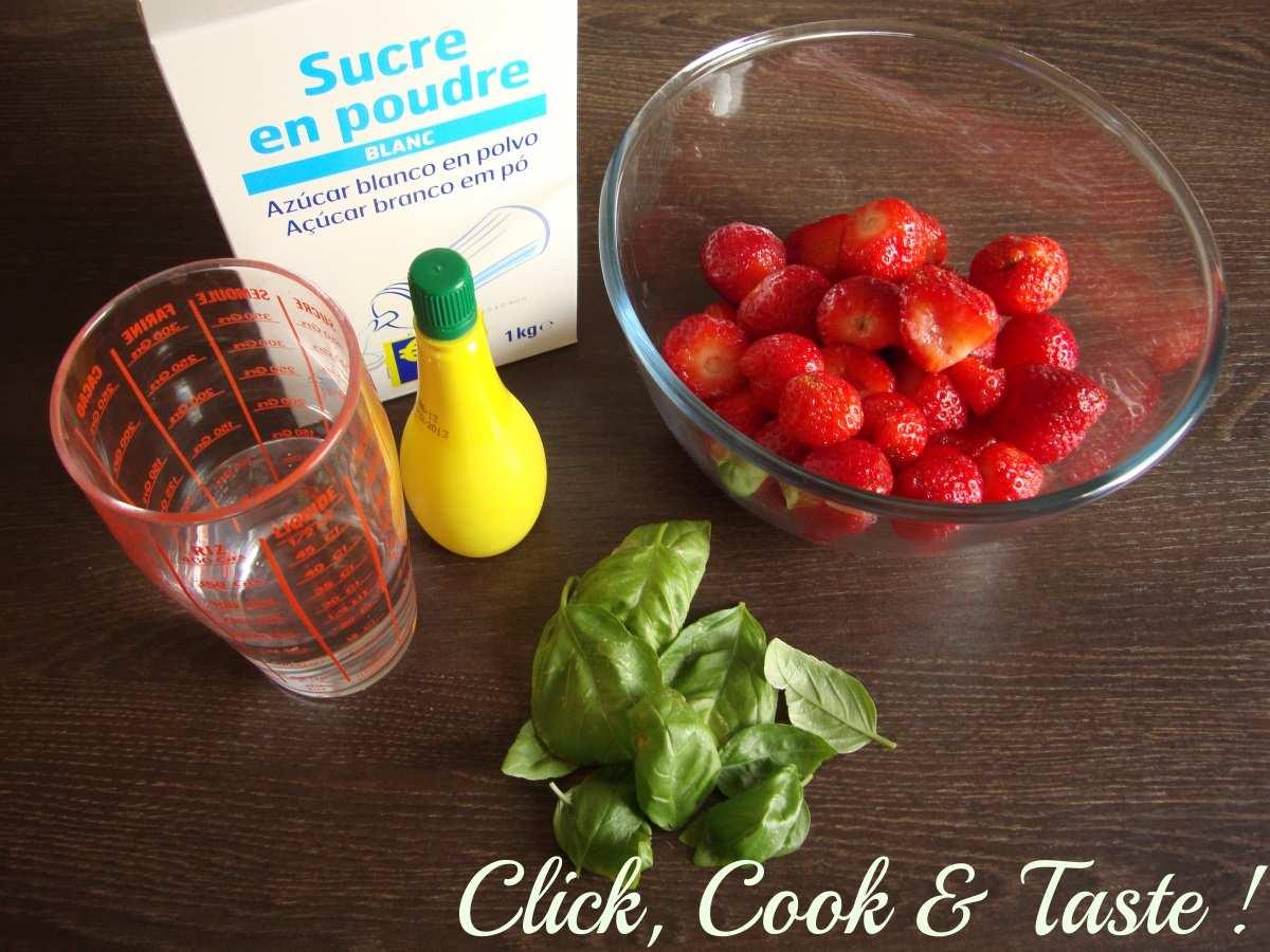 Sorbet fraise basilic (avec sorbetière)