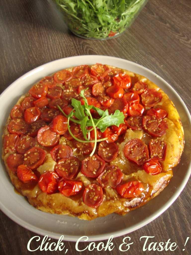 Tarte tatin à la tomate (cerise)
