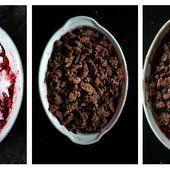 Crumble de chocolat aux framboises entières | La cuisine de Josie