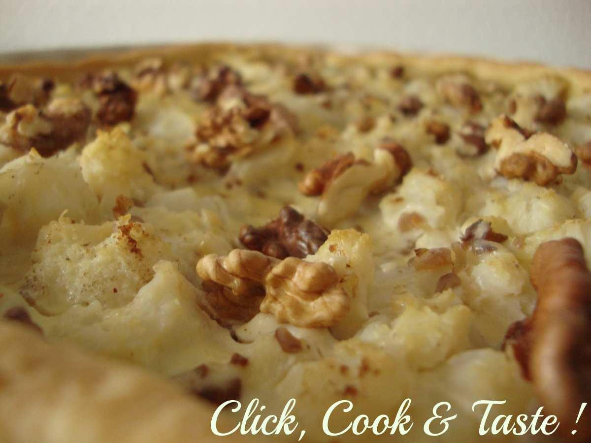 Tarte au choux fleur et fromage aux noix