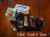 Bûche de Noël facile, chocolat - vanille