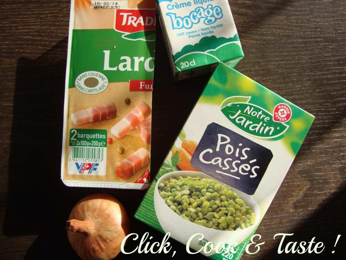 Soupe de pois cassés, espuma aux lardons - battle food #16