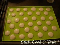 Macarons - les coques au sucre cuit (meringue italienne)