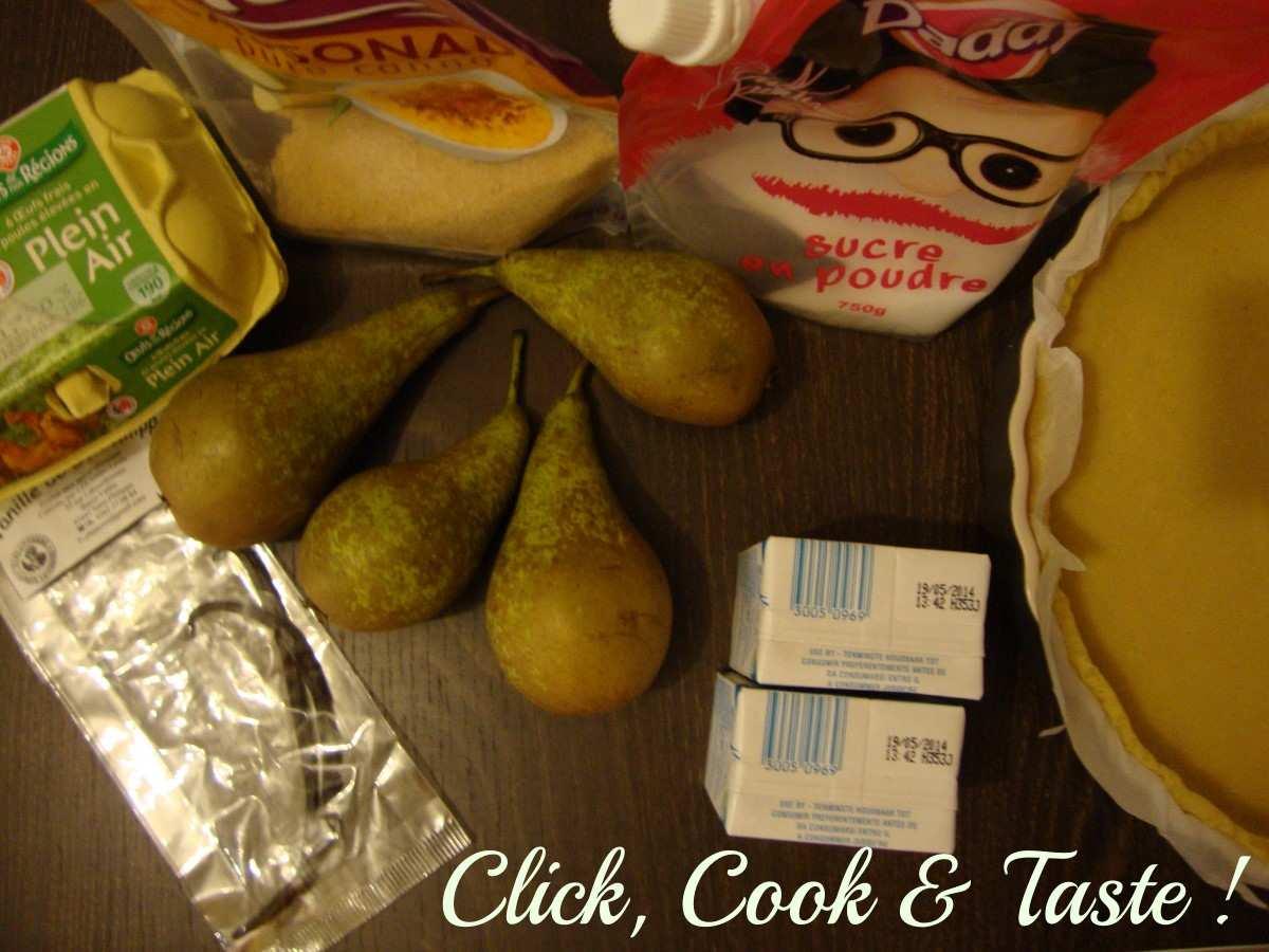 Tarte aux poires caramélisées et à la crème brûlée
