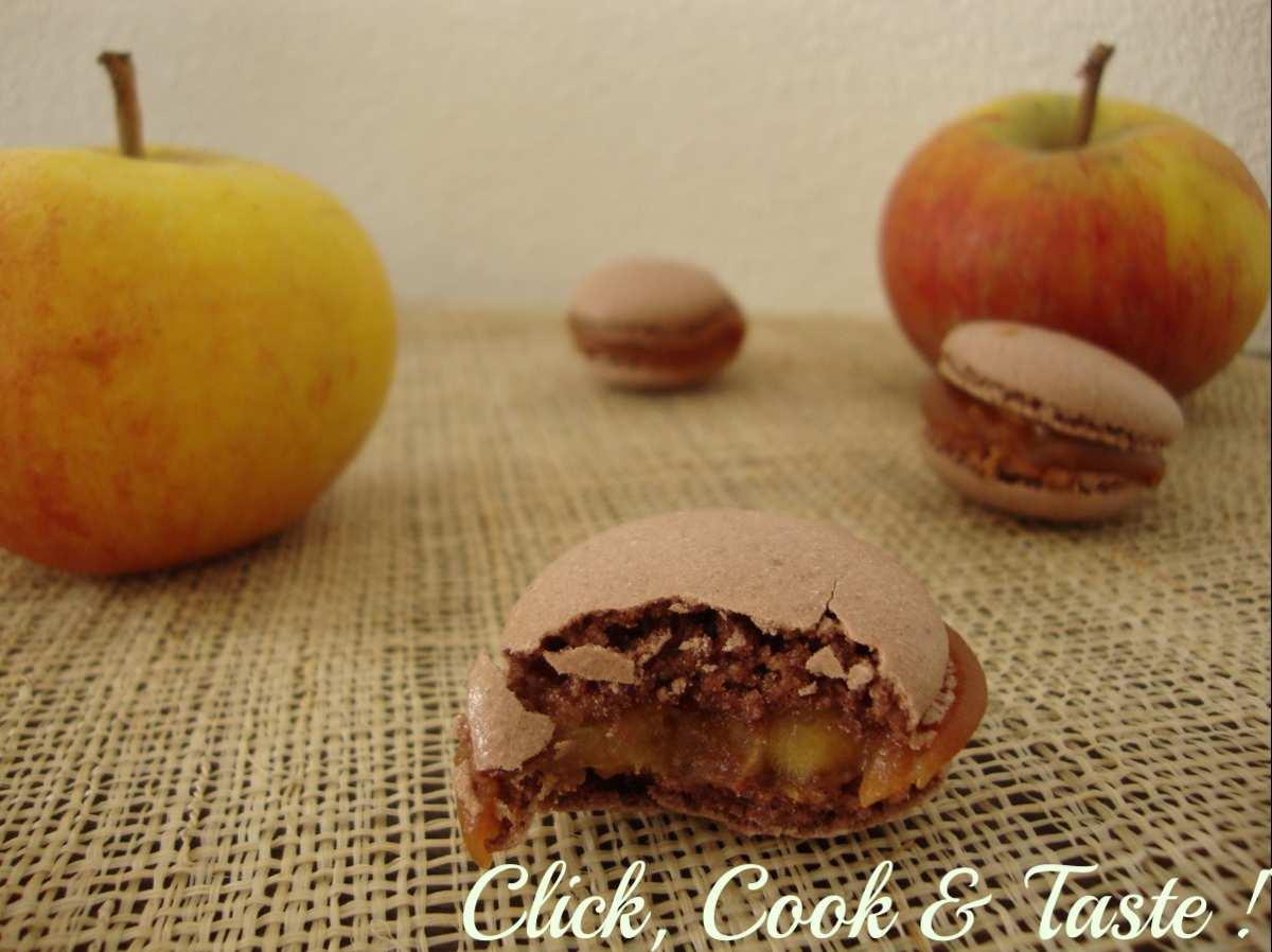 Macarons pommes - caramel au beurre salé