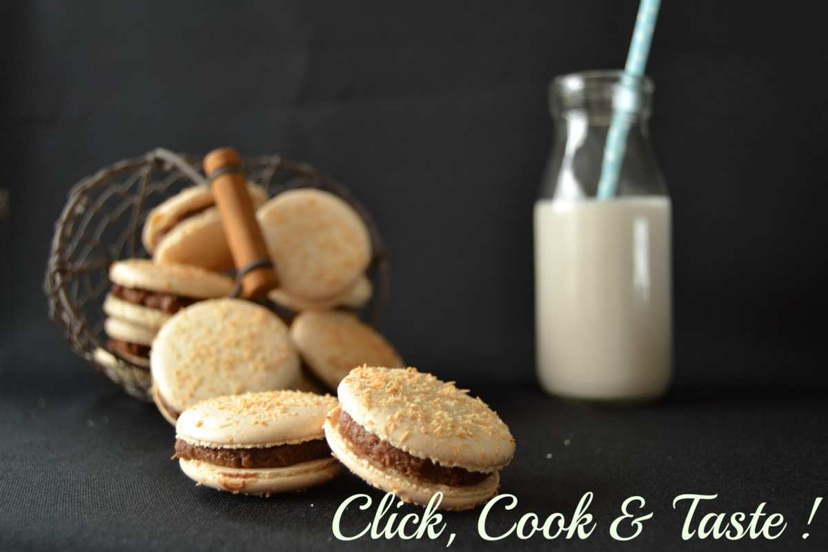 Macarons Bounty : chocolat au lait et noix de coco - Battle food #19