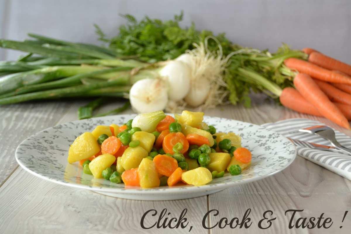 Jardinière printanière de légumes