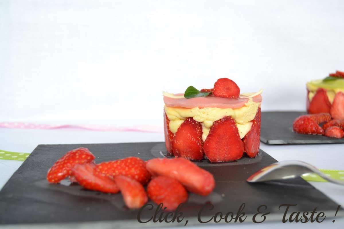 Minis fraisiers à la menthe