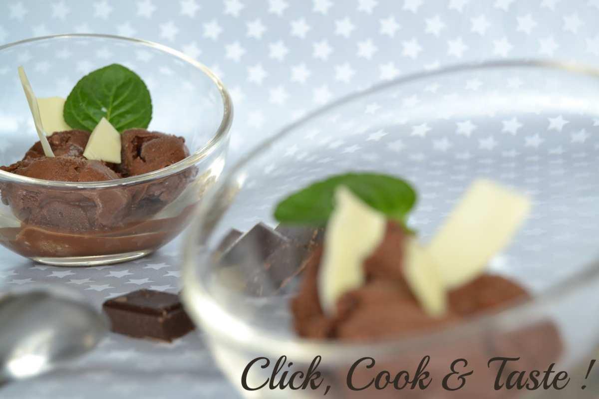 Sorbet au chocolat (avec sorbetière)