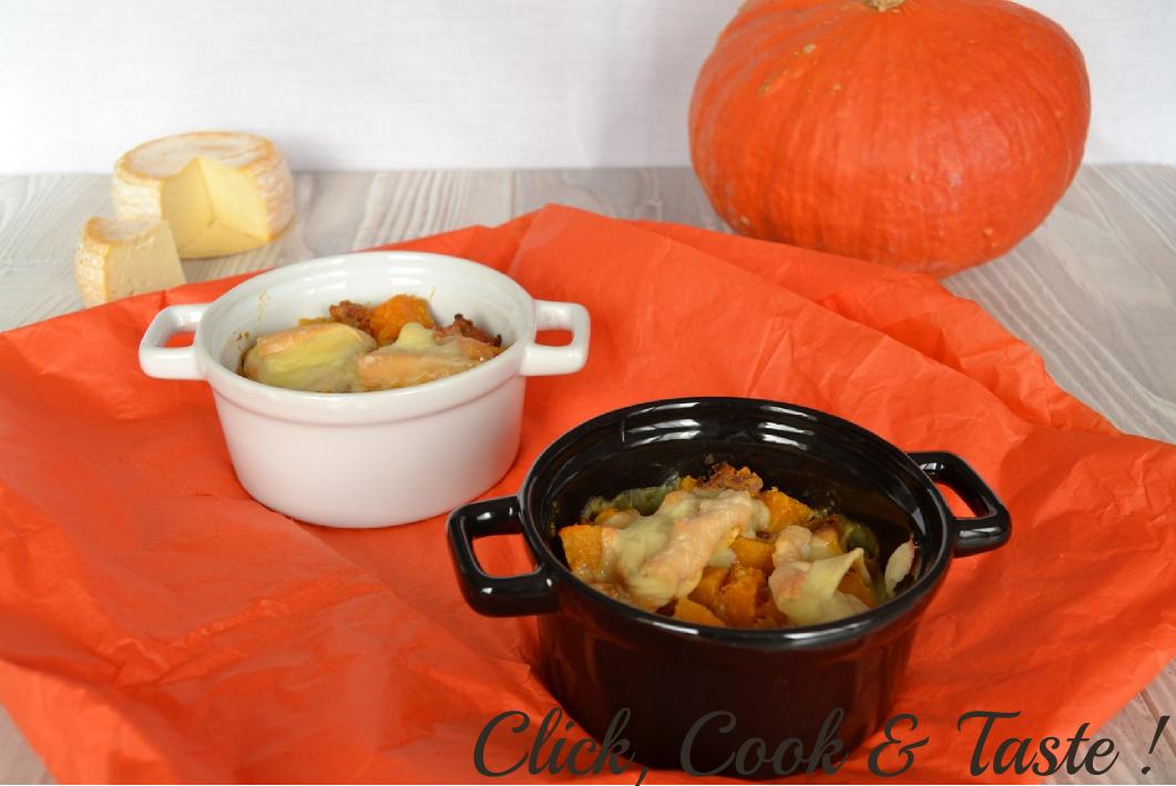 Tartiflette au potimarron click cook and taste - Temps de cuisson tartiflette ...