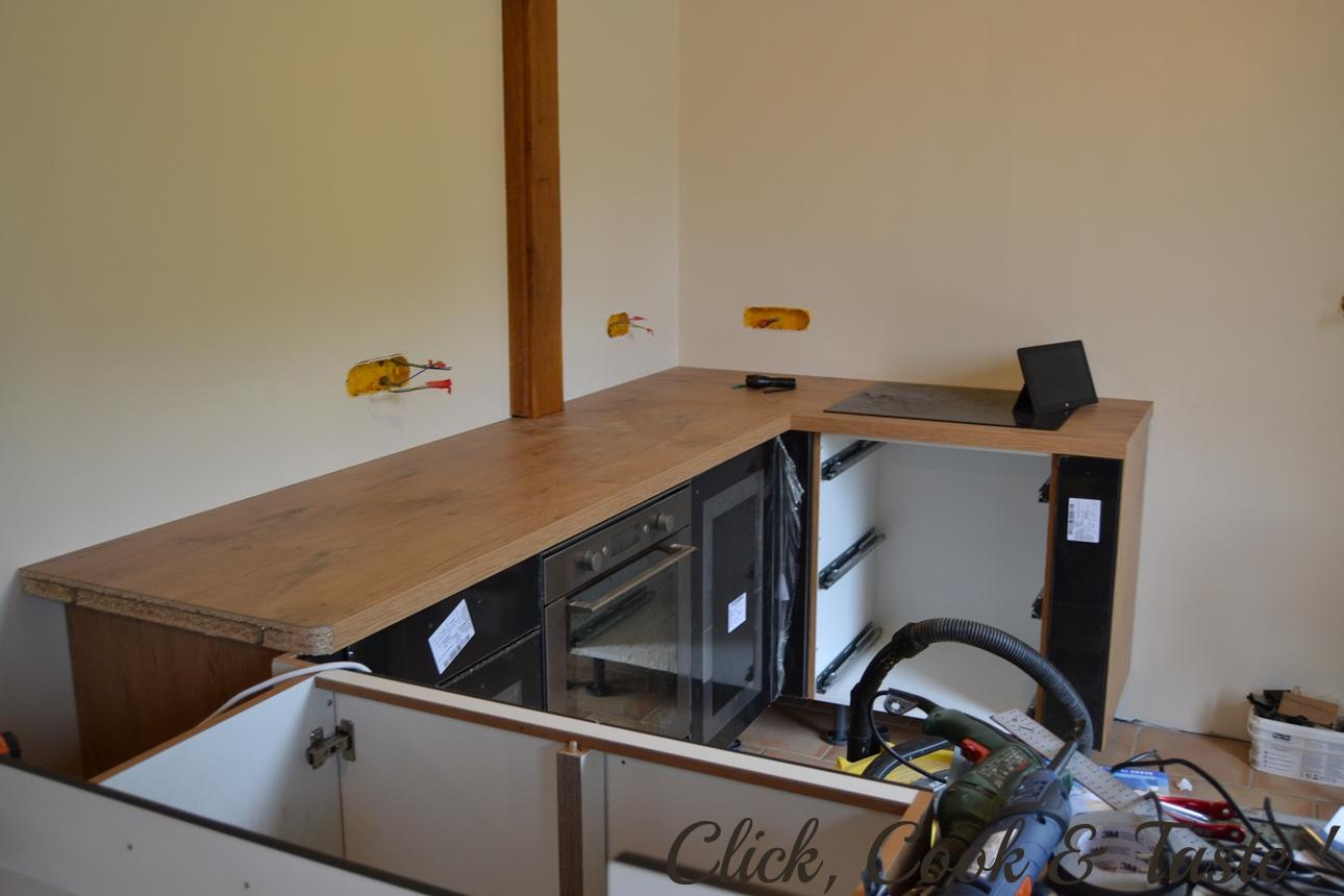 Colle Pour Plan De Travail Cuisine installation d'une cuisine (ixina) | click, cook and taste !